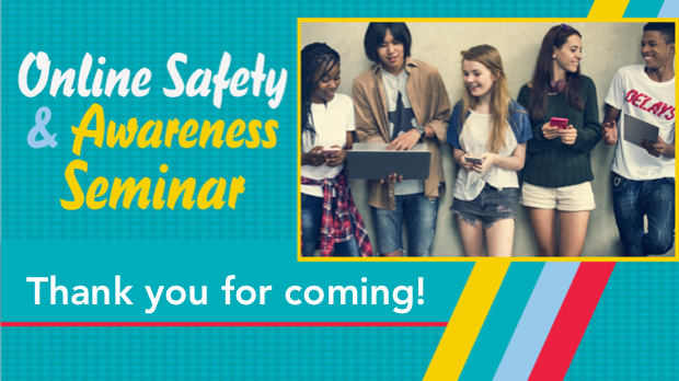 Online Safety & Awareness (OSA) Seminar, was created to advise, alert and arm adults and kids (ages 10+) with information from cyber, law enformcement and mental health professionals to use technology safely and appropriately. For more information, visit www.christchurchusa.org/teens.